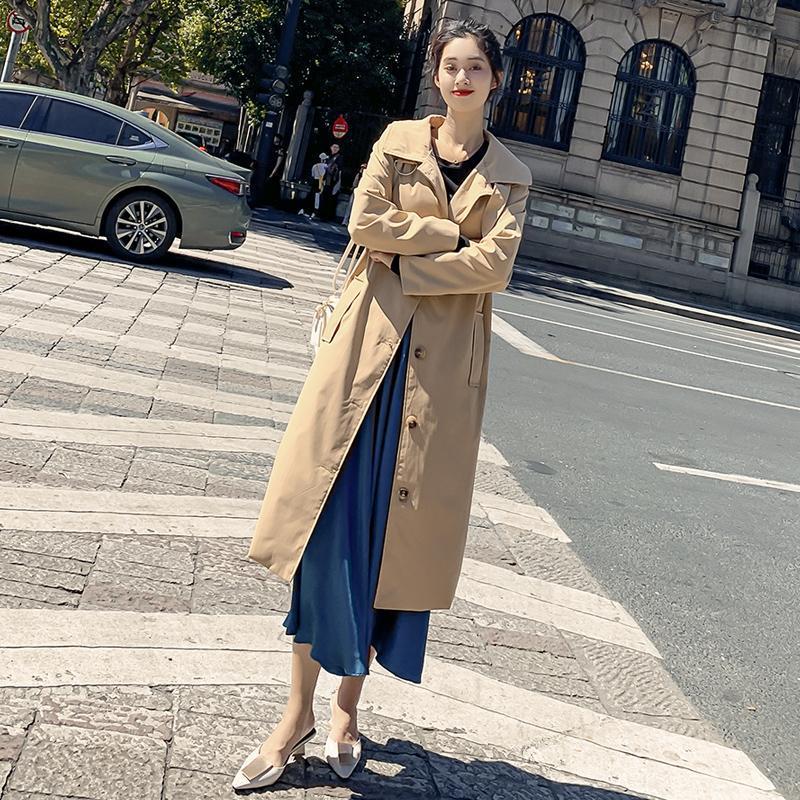 Women's Trench Coats Autumn Casual Women Coat Top Korean Trenchcoat Baggy Windbreaker Female Oversize Raincoat Long Casaco Feminino Mujer