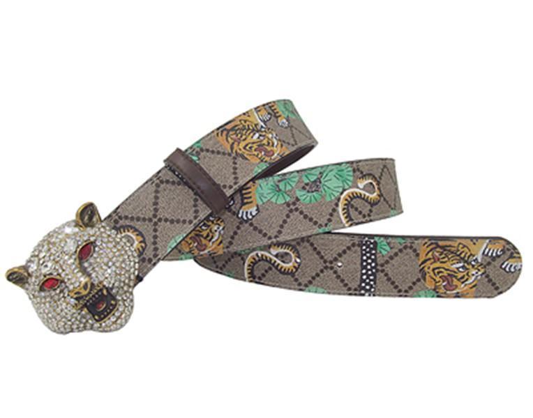 Западный горный хрусталь леопардовый головной пряж тигровой печати кожаный мужской ремень подарок с джинсами