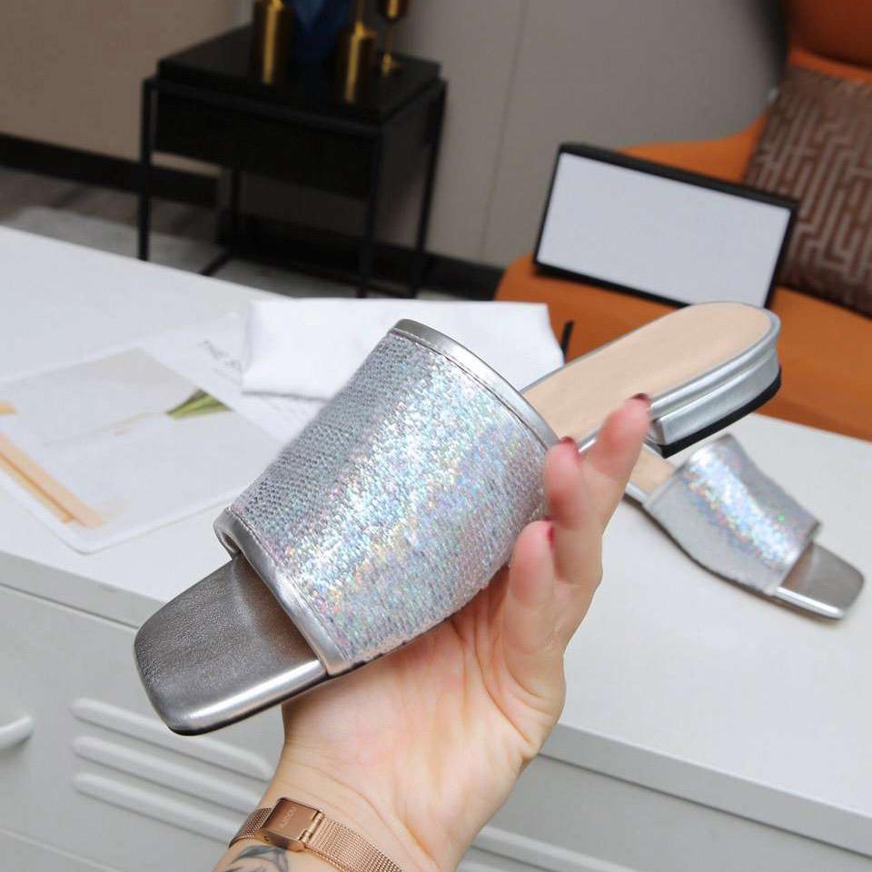 Kadın Mizaç Terlik Flip Flop Nappa Dream Square Toe Sandal Streç Sandalet Bayanlar Rahat Terlik Düğün Kadın Düşük Topuklu