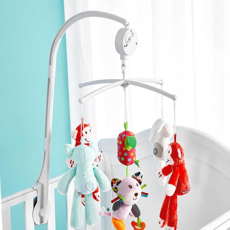 Kinderwagen 360 Grad Drehen Sie Musical Crib Mobile Bett Glocke mit hängendem Babyrassel 0 12 Monate