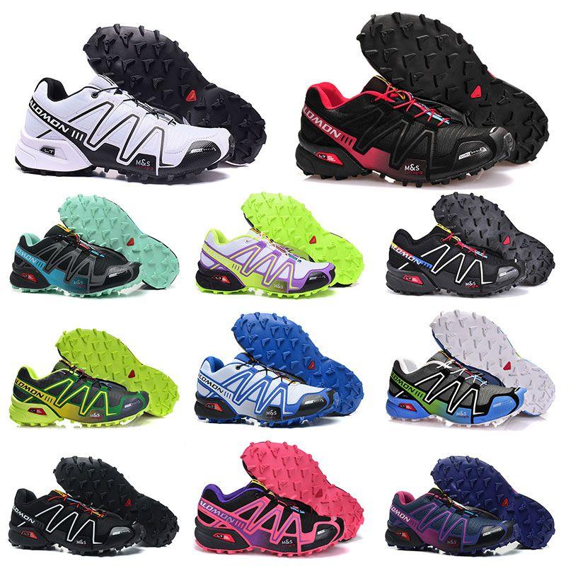 Salomon Speed Cross 3 CS 야외 남성 여성 운동화 III 블랙 그린 트레이너 남성 여성 스포츠 스니커즈 36-46  신발