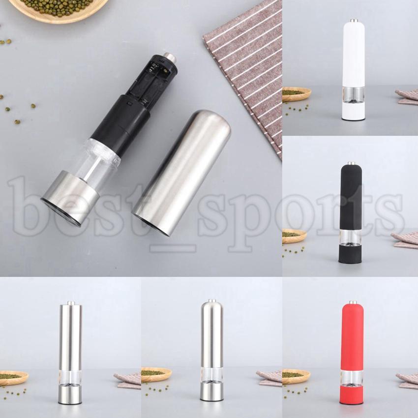 Moinhos de pimenta elétrica ABS Moinho de sal de sal de sal Muller Spice Moller Moedor Pepper Moedores Sem Baterias Ferramentas de Cozinha Cyz3157