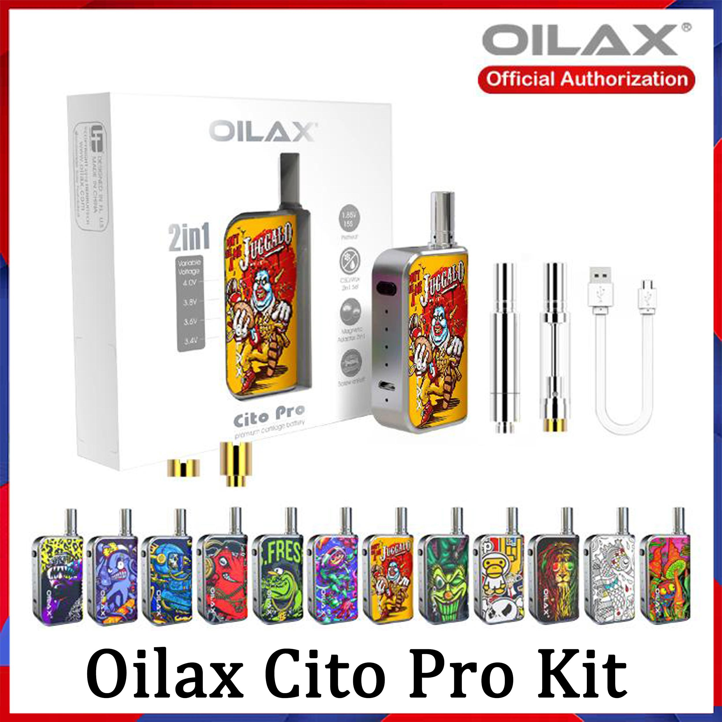 100% Authenti Oilax Cito Pro atomizers Vape Pen 2 in 1 Starter Kit Electronic Cigarette 400mAh Variable Voltage Preheat Adjusted Battery Vol