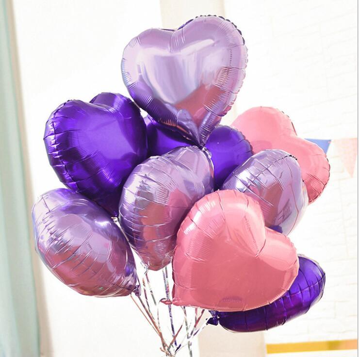 8 بوصة على شكل قلب الألومنيوم فيلم بالون الحب الخوخ حفل زفاف الديكور لعب الأطفال