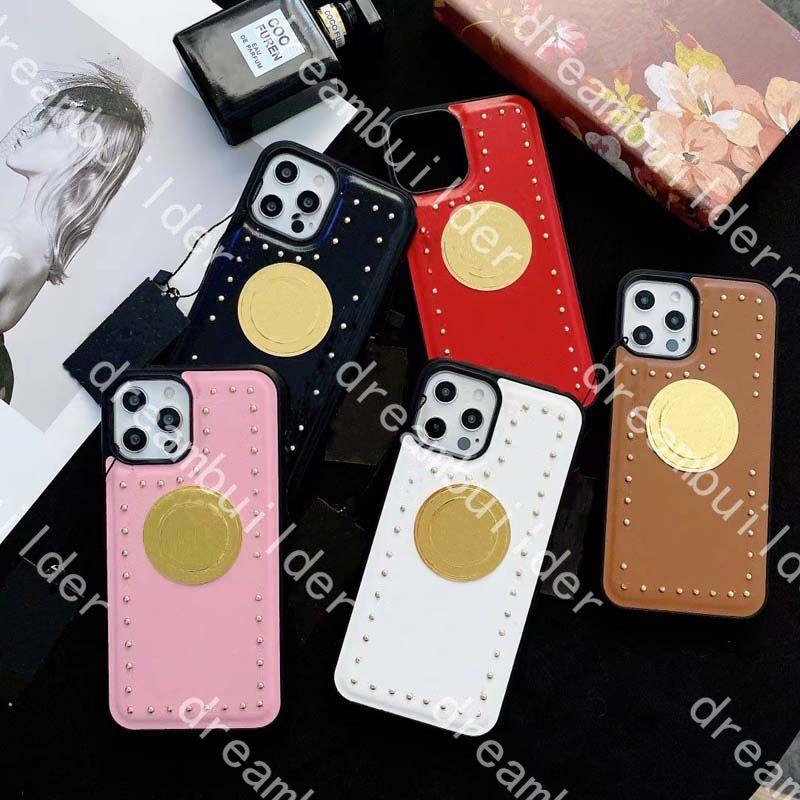 Casos de telefone de moda para iphone 13 pro max mini 12 12PRO 12PROMAX 12Mini 11 11PRO 11PROMAX X XS XR XSMAX 7P 8P 8 PLUS PU Couro Proteção Caso Capa com Caixa