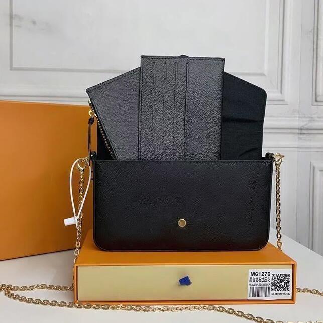 3 шт. / Набор избранные мульти-почеты аксессуары женщины Crossbody кошелек мессенджер сумки сумки цветы дизайнерские на плечо леди с коробкой M61276