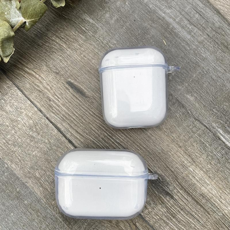 Transparent Crystal Soft TPU Cases For Airpods Pro Air Pod 1 2 gen AirPod 2021 Silicone Rubber Fashion Bling Blank Plain Clear Green Gray Earphone Protective Cover