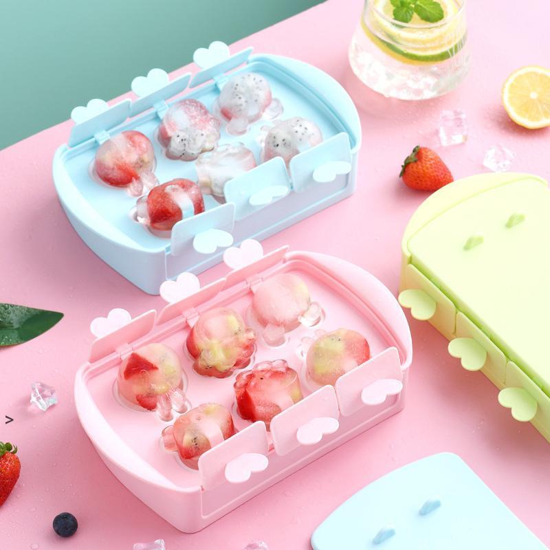 DIY Auto-fabriqué de la crème glacée de neige gâteaux de neige moules cuisine outils dessin animé mignon bâton gâteau popsicle moules machine maison OWB8844