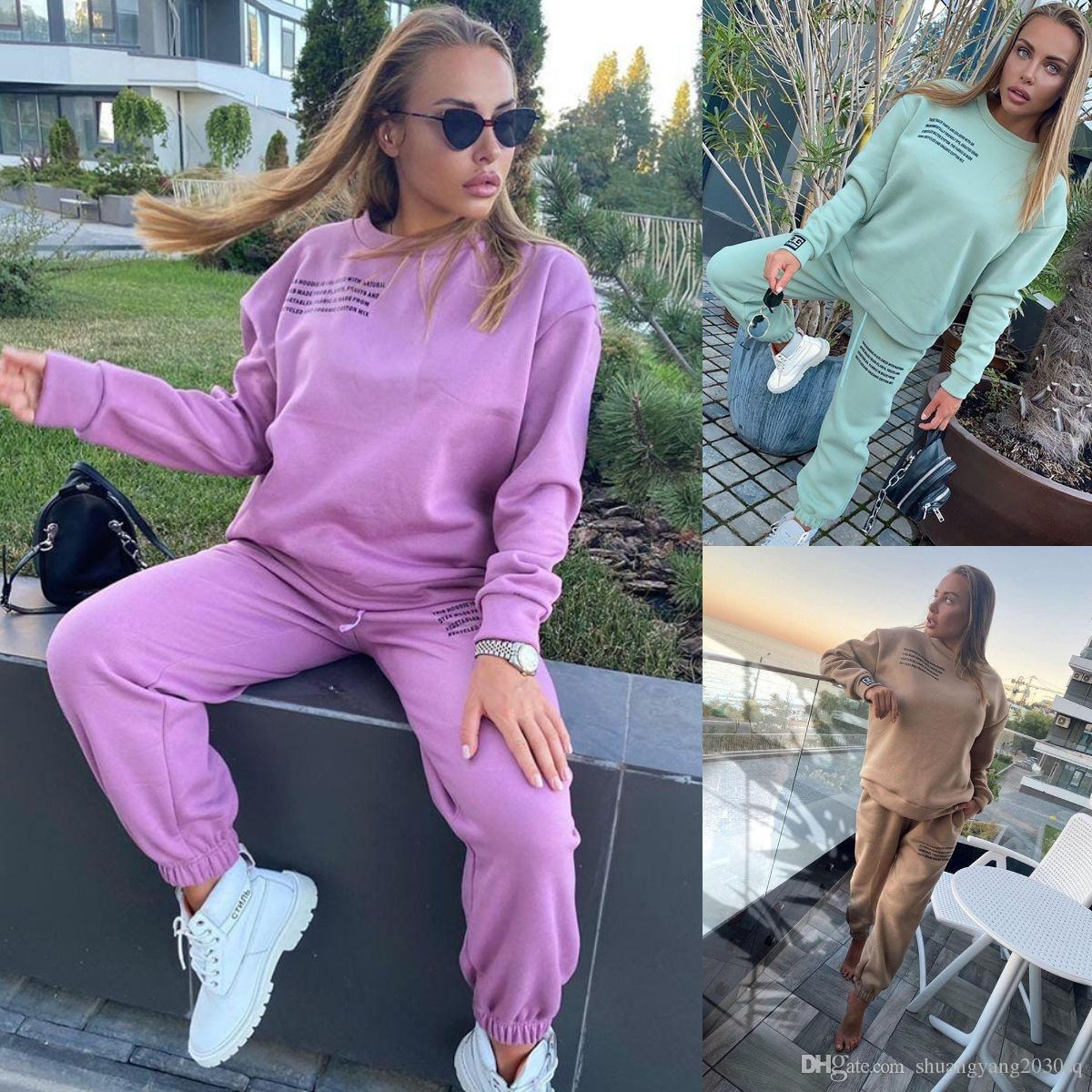 Donne Tracksuit European e American Womens Autumn Autunno nuovi sport e vestito casual da due pezzi