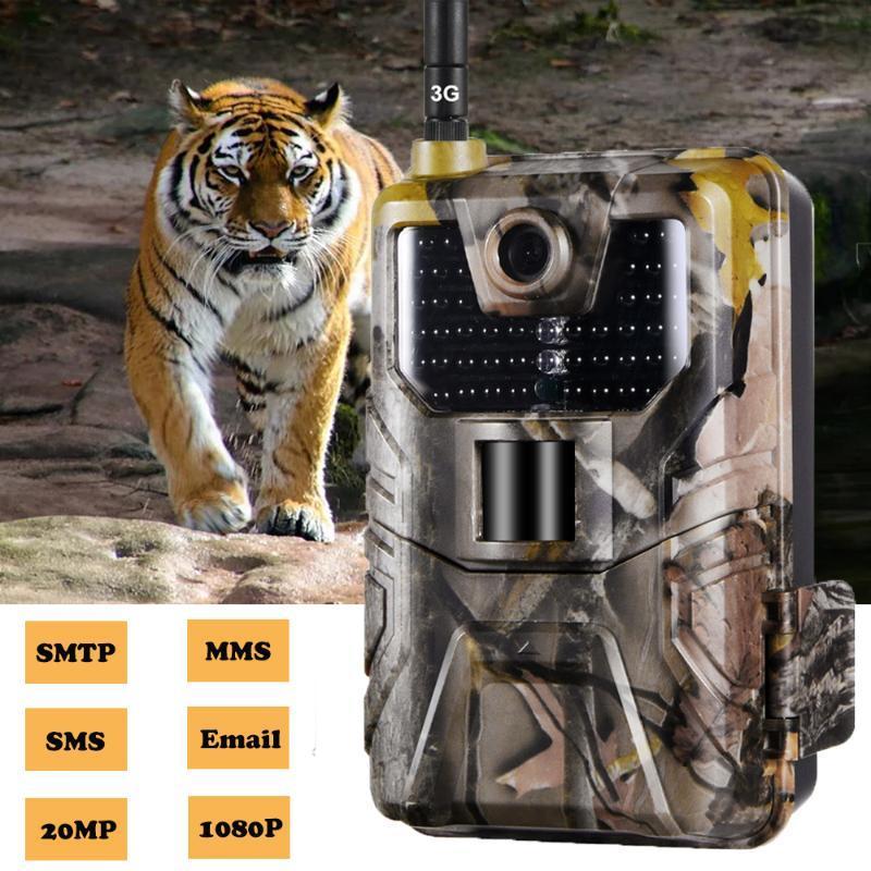 셀룰러 사냥 트레일 카메라 MMS SMTP SMS 전자 메일 HC900G 20MP 1080P 카메라 모바일 야생 동물 무선 감시 캠