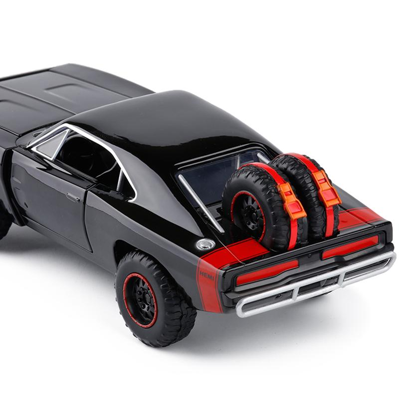 124 Dodge Caricabatterie R / T Muscle Vehicle Auto Model The Fast and the Furious Alloy Car Modelli Giocattoli per bambini per bambini