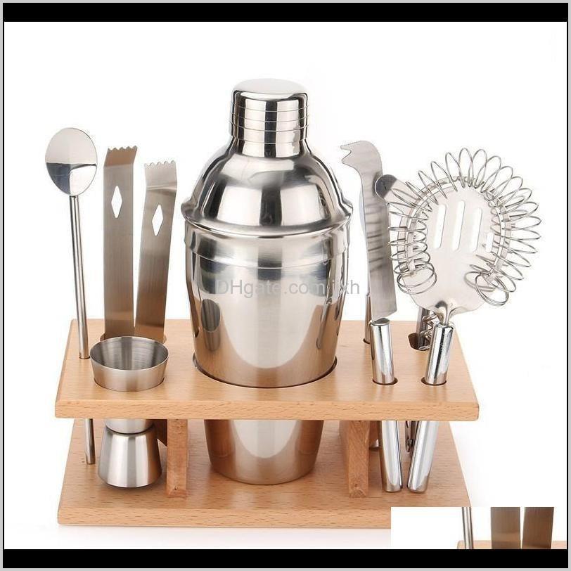 أدوات المطبخ الباري المطبخ، تناول الطعام الرئيسية حديقة قطرة التسليم 2021 الفولاذ المقاوم للصدأ شاكر كيت النبيذ الأحمر كوكتيل الهزازات مجموعة النمط الغربي المعادن