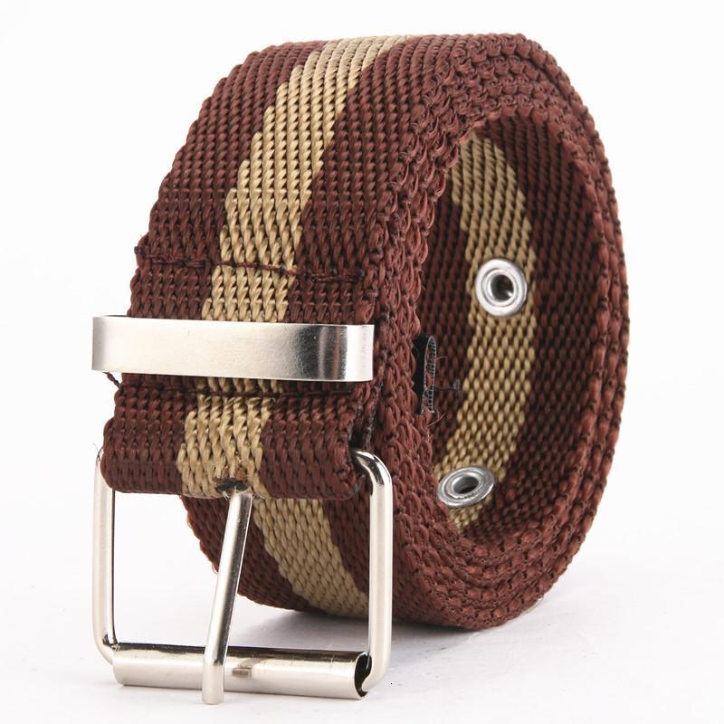 Lienzo Hebilla suave para hombres Jóvenes Coreano Pantalón Cinturón Ocio al aire libre Qiantang BU301