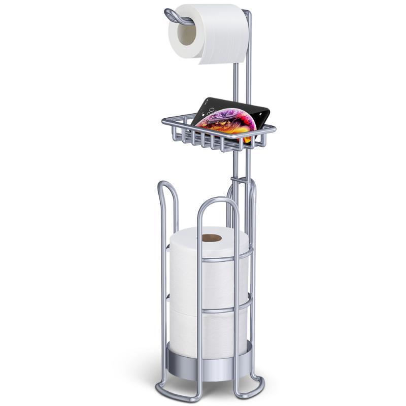 Titulares de papel higiénico Holder Holder Soporte independiente Tissis Portátil Baño de almacenamiento Organizador de almacenamiento fácilmente ensamblar