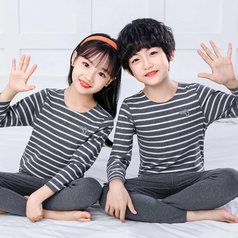 Pyjamas Structure physique Sous-vêtements pour enfants Tracels thermaux hiver hiver garçons des garçons 'filles' maison usure tissu et automne pantalon