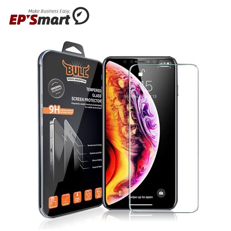 حامي الشاشة حماة الصدمة الثور العلامة التجارية الزجاج المقسى حامي الهاتف الخليوي لفون 12 ميني 11 برو XR XS ماكس x 6 7 زائد سامسونج غالاكسي S21 S20 Note20 Ultra A52 A50 A60 2.5D