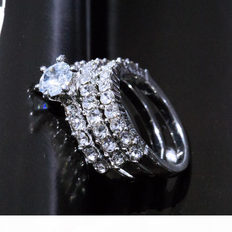 Fashion luxury love trio rings lady micro-diamond ring Wedding Love Ring for Women & Ladies Jewelry