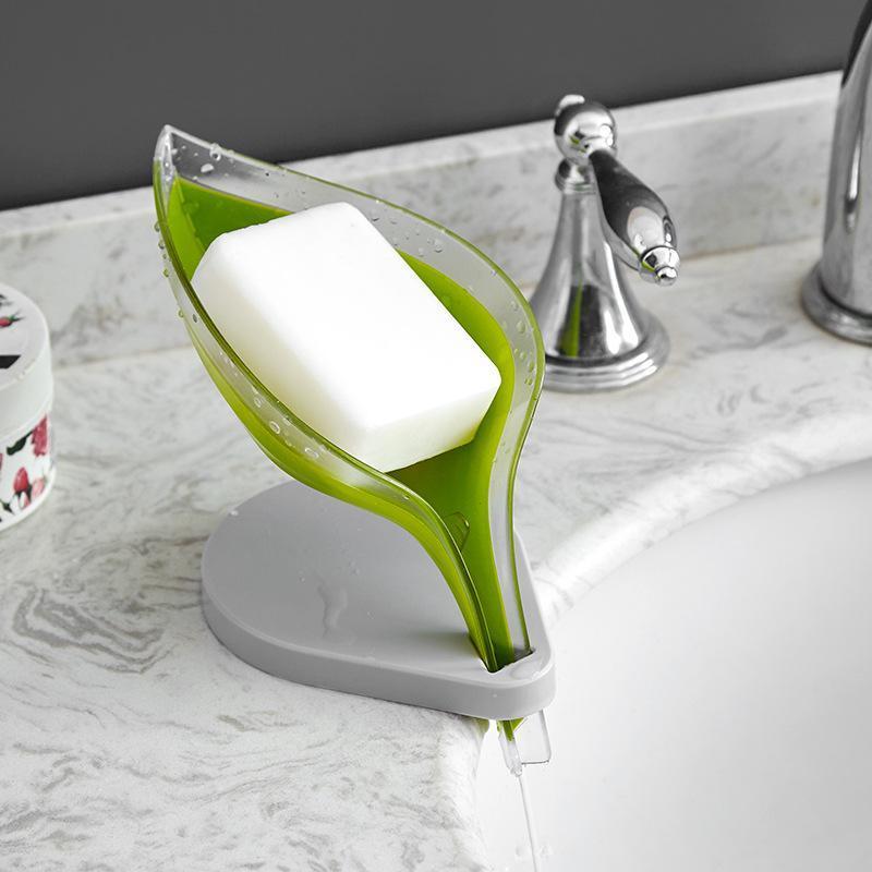 Seifenschalen Blätter Saugnapf Teller Kunststoff für Badezimmer Kreativität