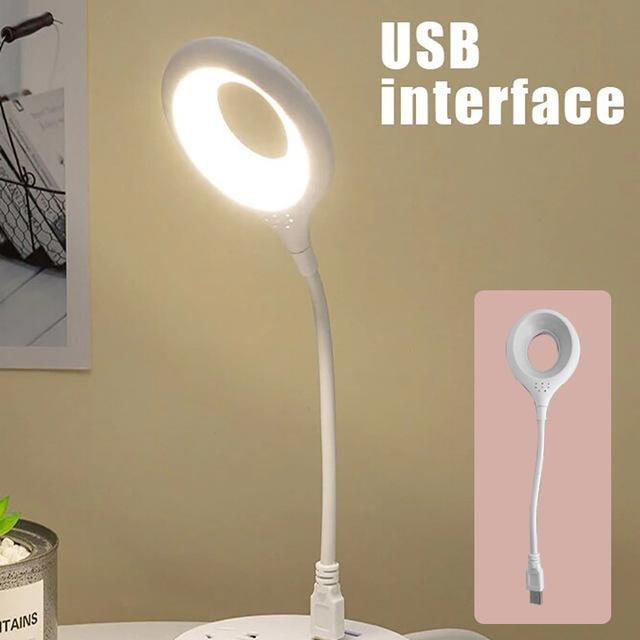 Desk Book Light Touch Bendable LED Table Lamp Eye-Protect Study Foldable Desktop Pen Holder 3Mode Home Bed Side Night Reading USB interface