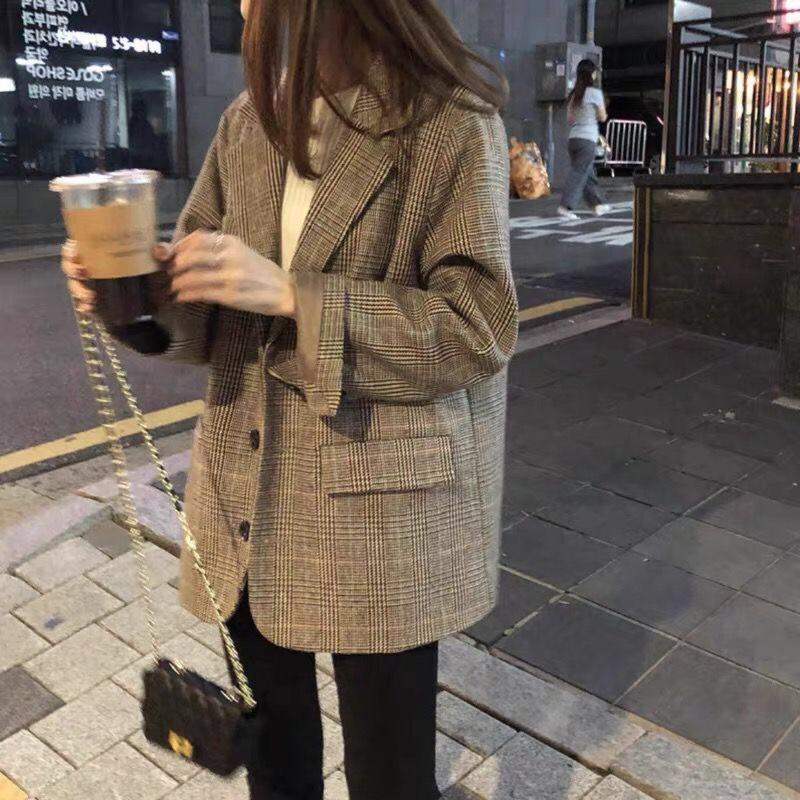 Women's Suits & Blazers 2021 Fashion Clothing Full Plaid For Women Jacket