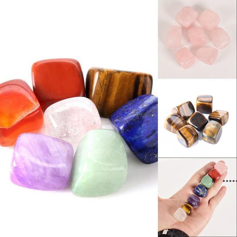 Natürliche Kristall Chakra Stein 7 stücke Set Natürliche Steine Palm Reiki Heilkristalle Edelsteine Dekoration Zubehör FWB6416