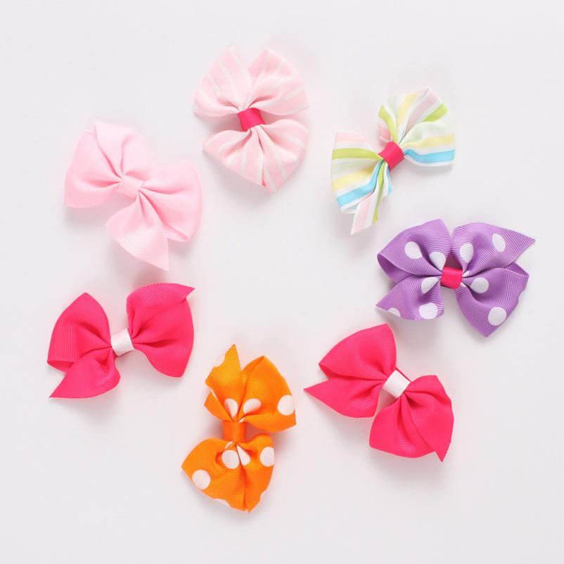 Baby Accessories Girl Hair Clips Childrens Things Kids Slides Barrettes Toddler Bows B5523
