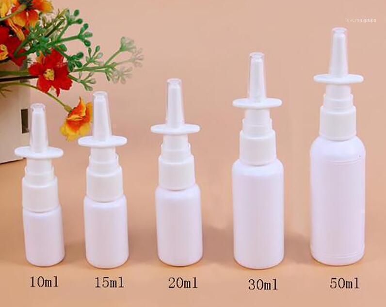 البلاستيك زجاجة رذاذ الأنف مع مضخة بخاخ PE 10ML 20ML 30ML 50ML زجاجة إعادة الملء 11