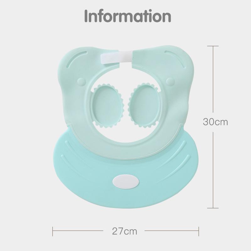Babypartykappen Shampoo Wash Hair Cap Kinder Bad Visier Hüte Einstellbare Schild Wasserdichte Ohrschutz Auge als Kinder Geschenk