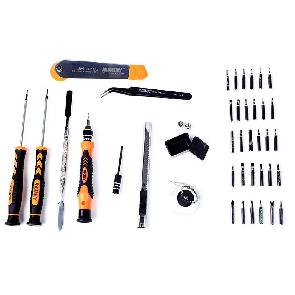 JAKEMY JM-8139 45 in 1 präzise Schraubendreher Set Repair Kit Öffnungswerkzeuge für Mobiltelefoncomputer Elektronische Wartung GWD6473