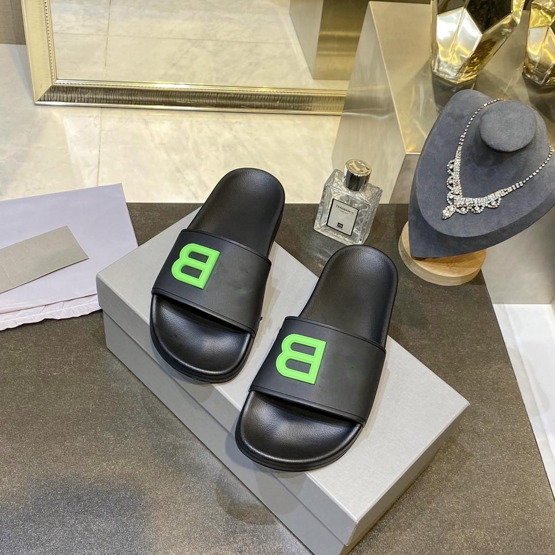 2021 Men Women Sandals Designer Shoes Luxury Slide Summer Fashion Wide Flat Slippery Slipper Flip Flop Flower Box Size 0715