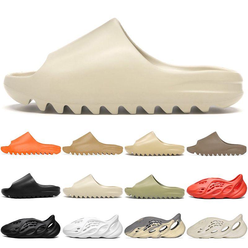 Kanye Sandalen Männer Frauen Rutschen Slipper Kinder Kinder Schuhe Triple Schwarz Weiß Rot Harz Knochen Wüste Sand Mädchen Boyes Hausschuhe Größe 32-47