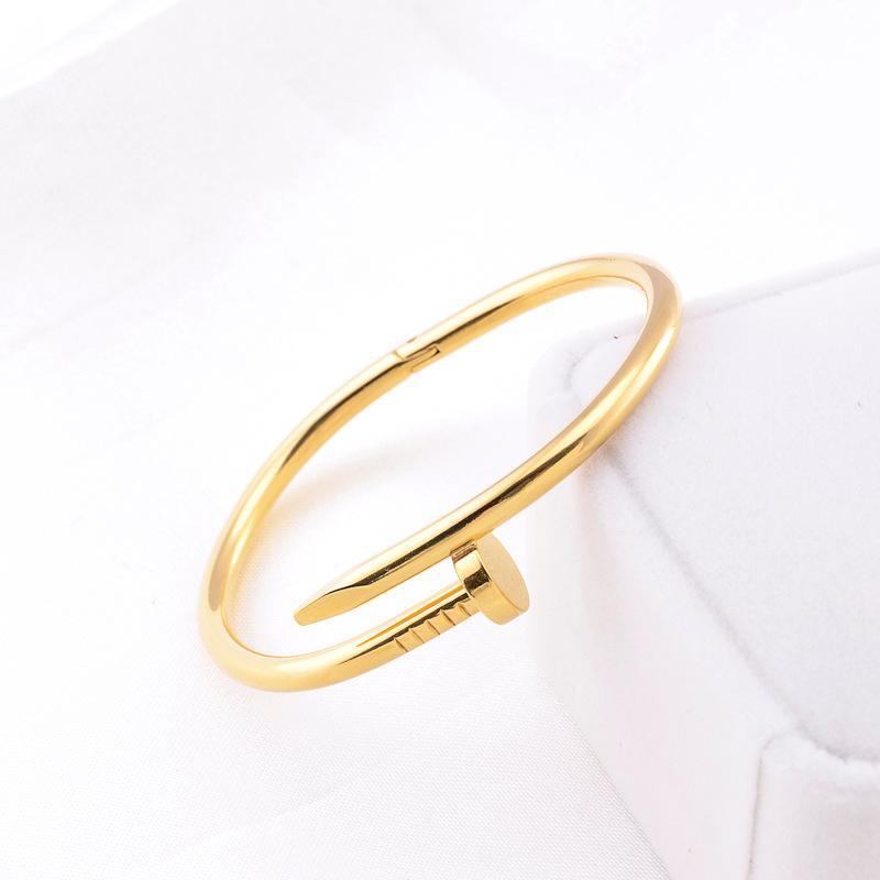 Браслет для ногтей дизайнер браслет мужские золотые браслеты роскошные ювелирные изделия женские браслеты из нержавеющей стали золото не аллергически не исчезают