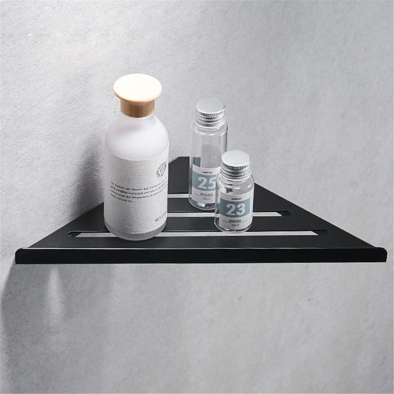 Badezimmerregale Ecke gebürstet 304 Edelstahl Wandmontierte Regal Dusche Lagerung Zubehör