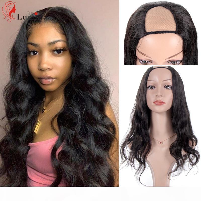 Onda corporal u parte peluca cabello humano 180 densidad sin glóvía pelucas de pelo humano vírgenes brasileños vírgenes rizadas pelucas negras naturales
