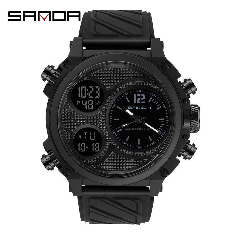 Armbanduhren Uhr Männer Outdoor Sport Quarzuhr Wasserdichte digitale Mode