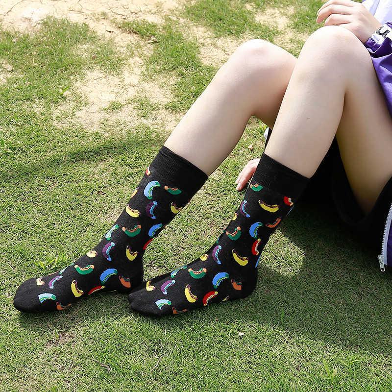 Creative stockings women's Cotton Brand men's socks middle tube skateboard couple personality trend