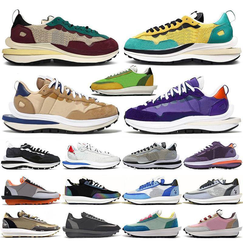 sacai x Nike LDV Waffle shoes Sacais VaporWaffle Pegasus Running Shoes Mens Womens Bright Citron Nylon White Black NYC Pigeon Fragment Chunky Dunky LDV Trainers Men Sports Sneakers