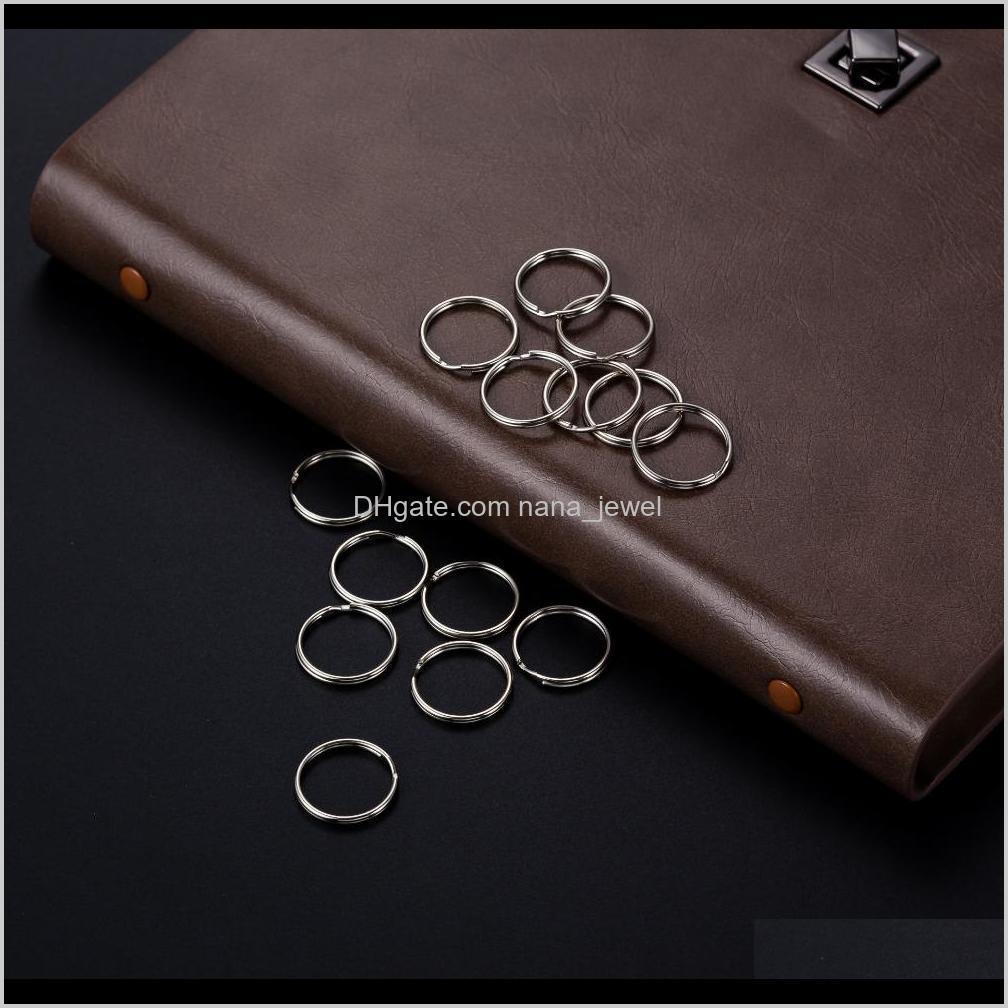 Llaveros Dividir los anillos de llave 15 x 20 mm 200pcs Sier Est llegada Accesorios DIY HZ6R4 9WLQ1