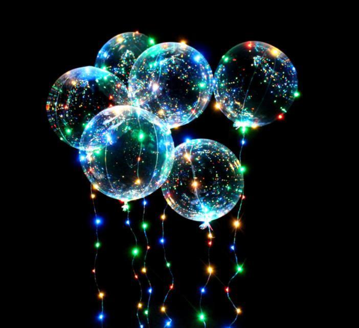 Parti Dekorasyon 20 inç ışık dize ile aydınlık-balonlar aydınlık bobo balonlar için led ışık-balon düğün-festival GWA7047
