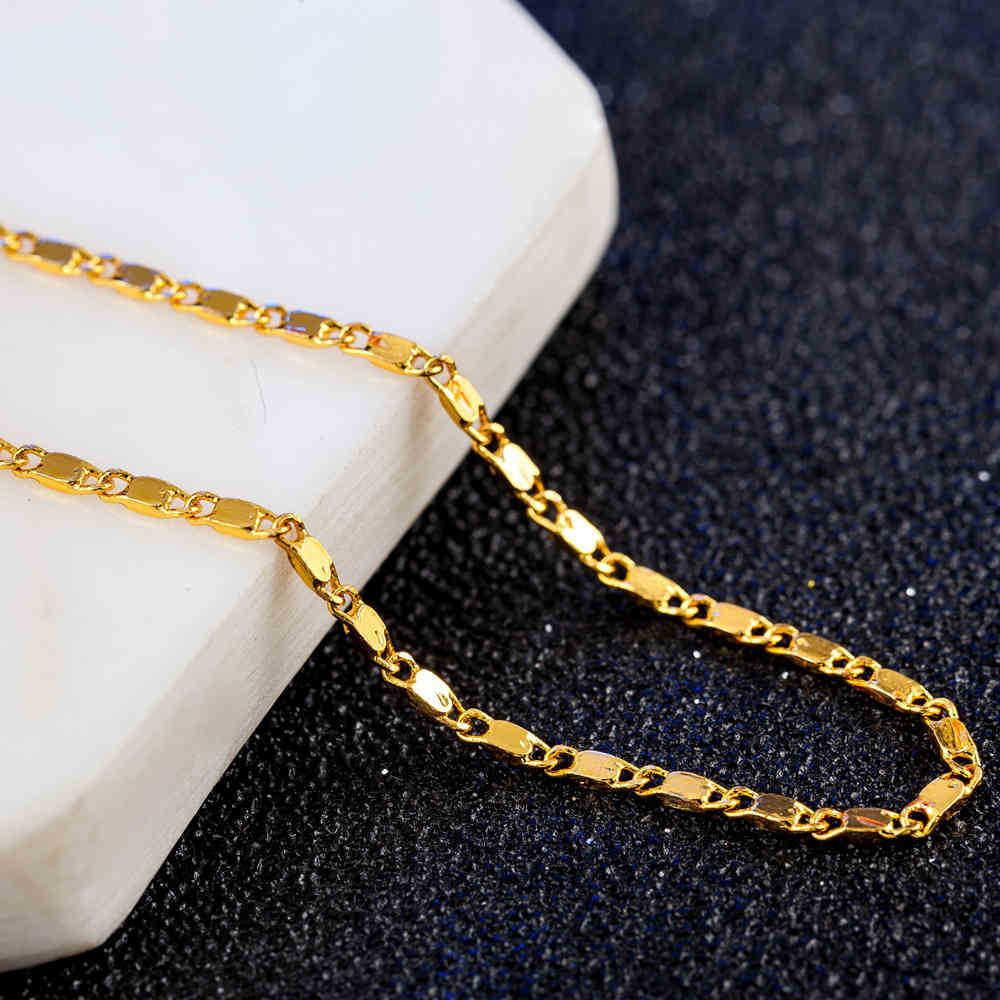 Wholesale High Quality Gold Necklaces Chain Super Deal Men Jewelry Vacuum Plated Fashion