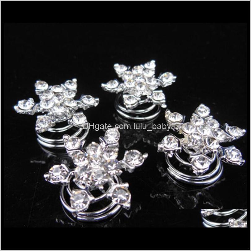 Altri gioielli Drop Consegna 2021 Brand Direct Bridal Bidal Accessori per capelli Piastra Snowflake Diamond Jubilee Clip Frozen PS2948 BFU8K