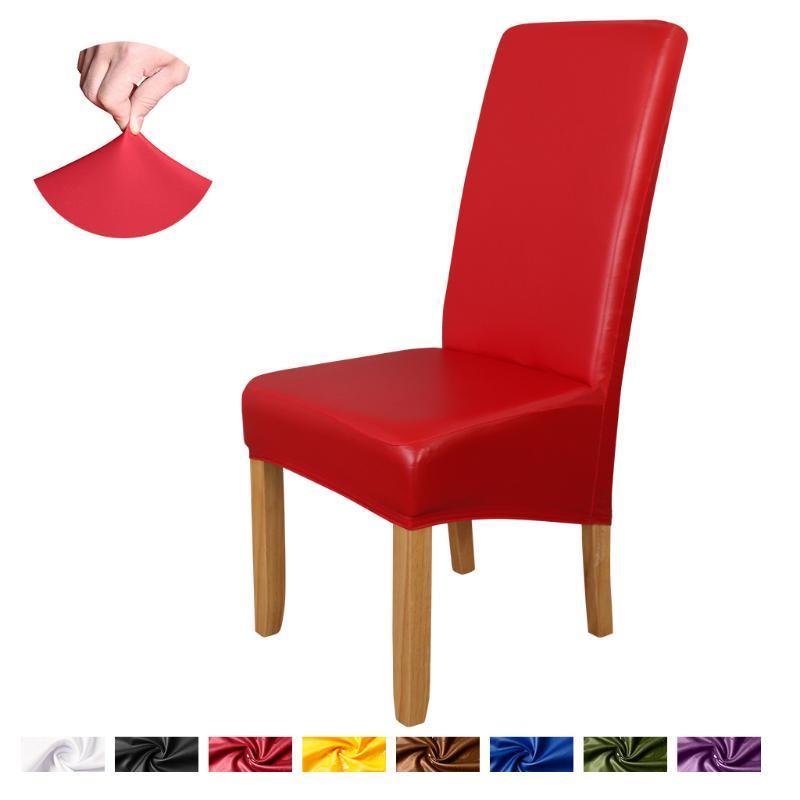 Chair Covers Stretch Spandex Removable Dining Room Slipcover Living Home Party Wedding Decoration Cover Solid Color