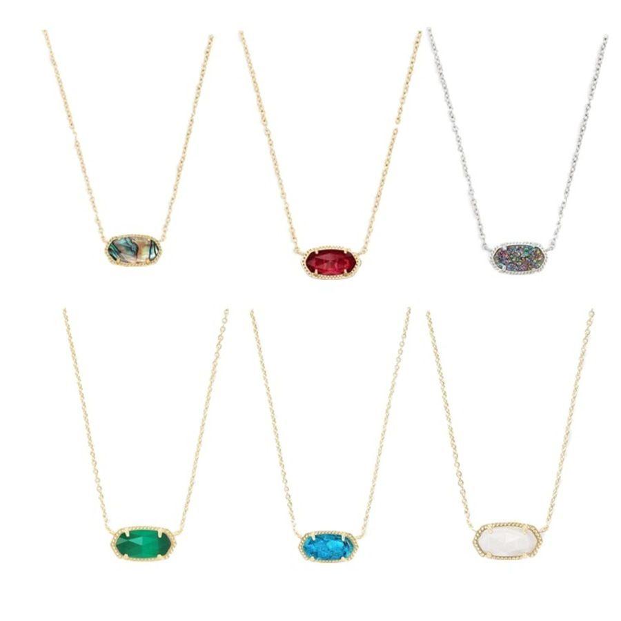 مجوهرات نمط kendra s قصيرة elisa elisa abalone / crystal الكتلة شل قلادة سلسلة الترقوة ou71514