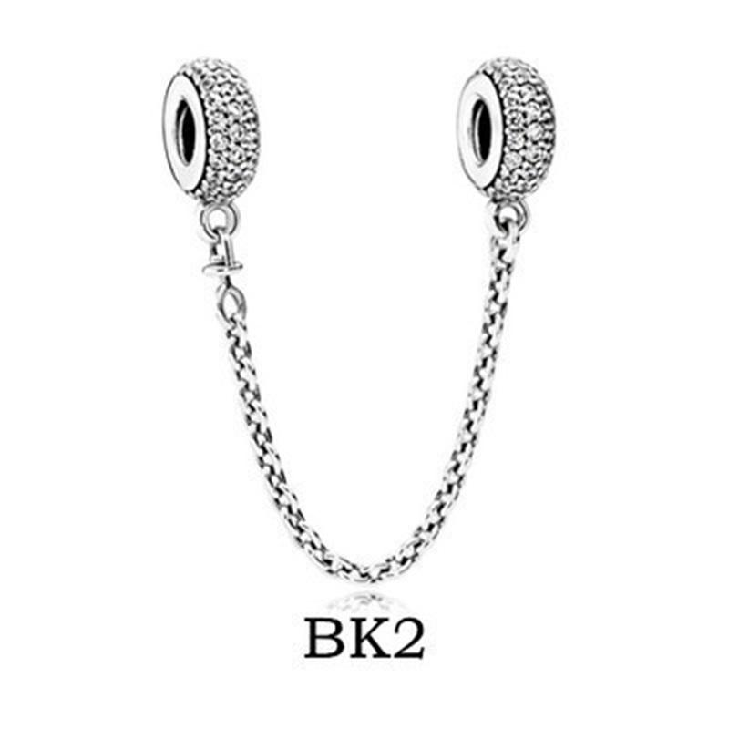 مجوهرات غرامة أصيلة 925 فضة الخرزة صالح باندورا سحر تمهيد الإلهام كريستال السلامة سلسلة الخرز الخرز 1058 Q2