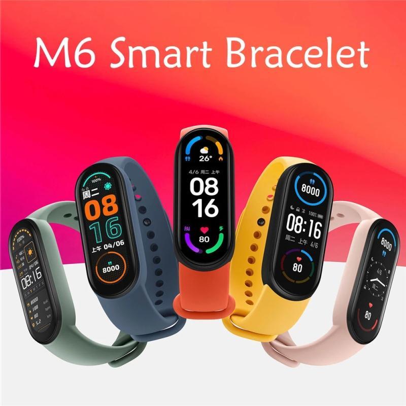M6 pulseira inteligente pulseira pulseira de fitness rastreador real frequência de coração monitor tela ip67 impermeável esporte relógio para celulares android vs m3 m4 m5 id115 plus