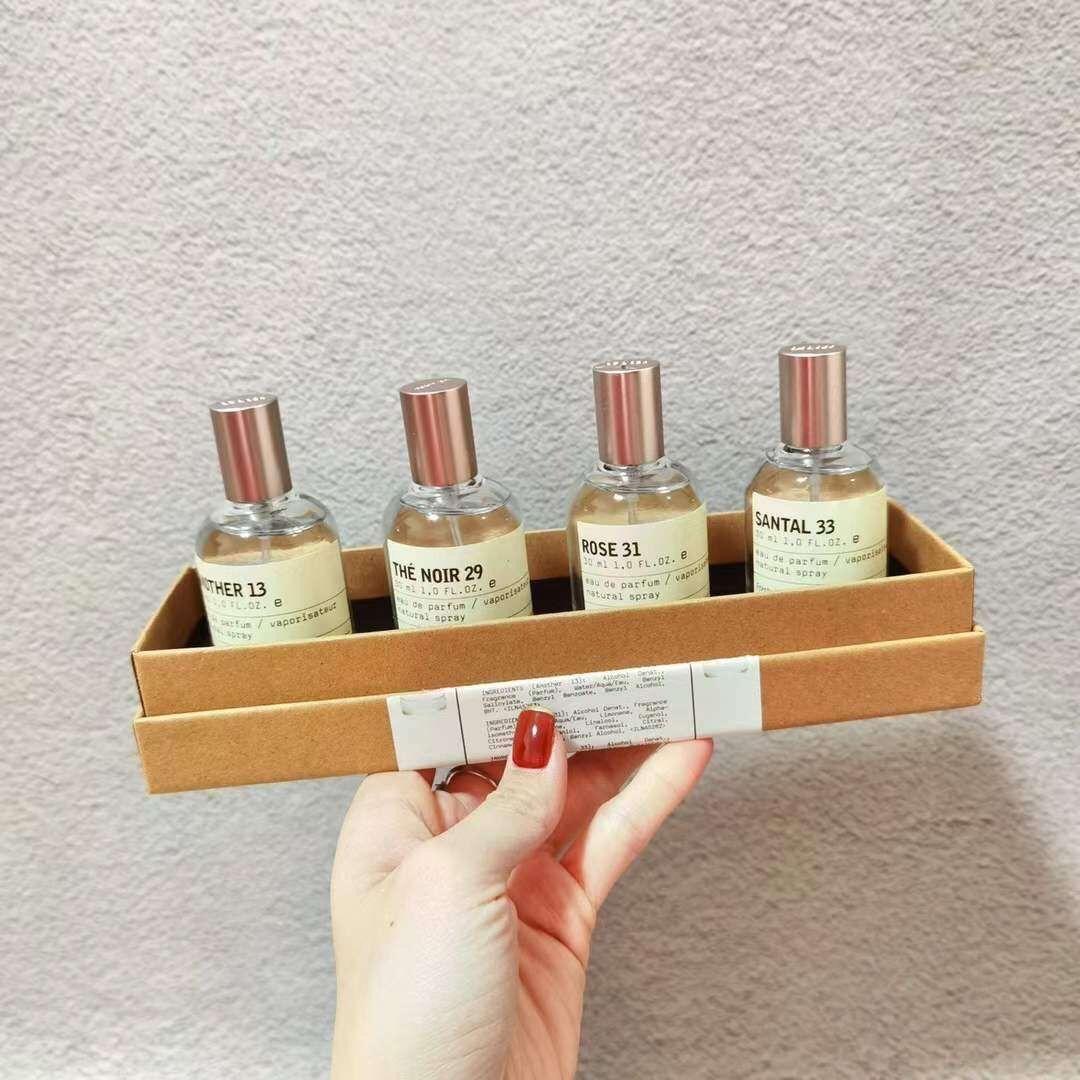 Ev Bahçe Le Etiket 4 adet * 30 ml Keşif Seti Koku Seti Santal 33 Rose 31 Başka 13 Noir 29 Parfüm Erkek Kadın Parfümler
