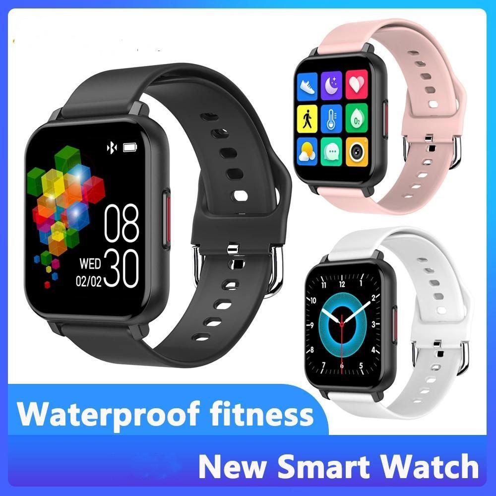 Smart Watch 1.55 дюймовый полный сенсорный экран Спорт Фитнес SmartWatch Мужчины Женщины Сердечный рисунок Артериальный давление