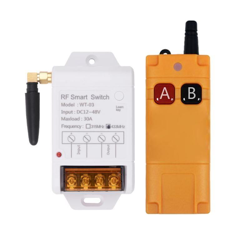 Smart Home Control 3000W RF wireless DC 12V 24V 36V Interruttore remoto 1CH 30A Ricevitore Trasmettitore industriale Trasmettitore per acqua Pompa per acqua Universale universale