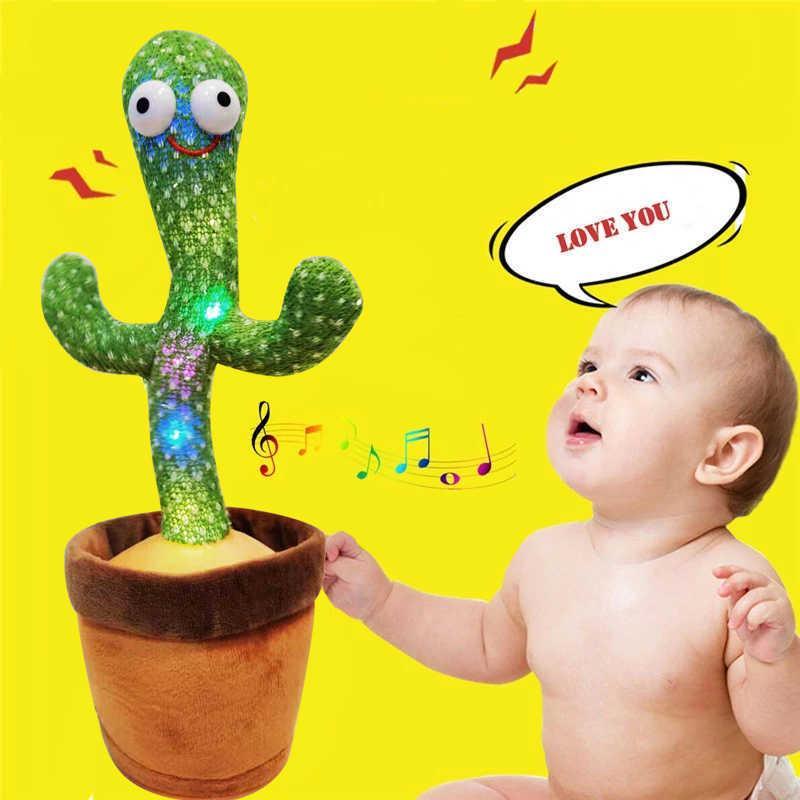 춤 선인장 장난감 곡으로 몸을 왜곡 봉제 흔들리는 흔들리는 아이들이 흔들리는 음악 210804