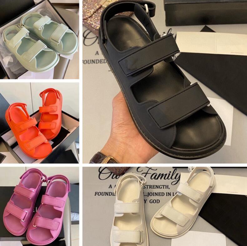 2021 Süper Sıcak Yeni Sandalet, Lüks Erkek Ve Kadın Sandalet, Tasarımcı Erkek Sandalet, Tasarımcı Kadın Sandal, Düz Sandal35-45